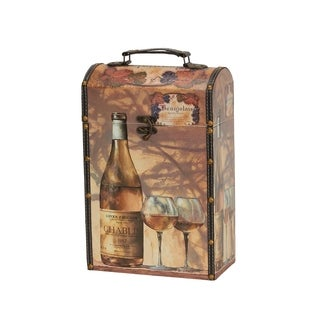 Decorative Double Wine Caddy Gift Box Decor
