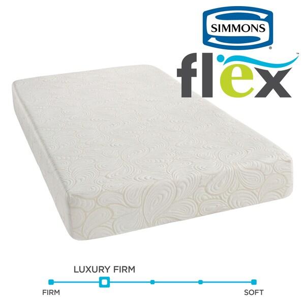 simmons recharge flex 725inch fullsize gel memory foam mattress by beautyrest free shipping today