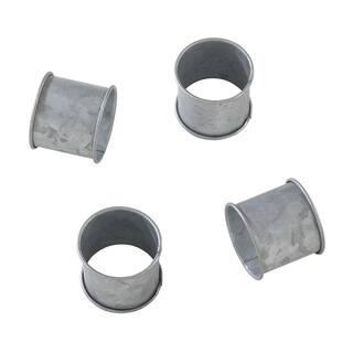 Galvanized Design Rustic Modern Style Metal Napkin Ring - Set of 4|https://ak1.ostkcdn.com/images/products/17616509/P23832689.jpg?impolicy=medium