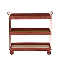 Studio 350 Metal Wood 3 Tier Cart 36 inches wide, 35 inches high