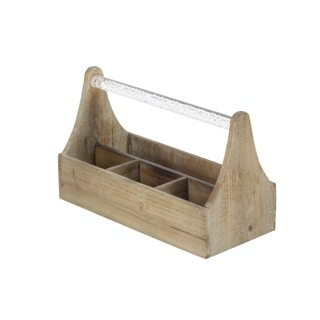 Studio 350 Wood Acrylic Wine Holder 12 inches wide, 7 inches high
