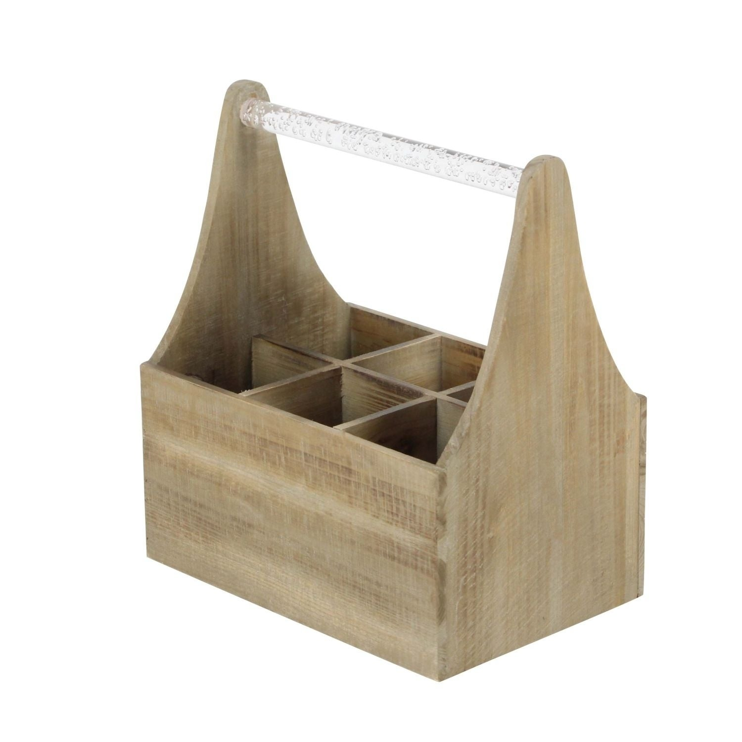 Studio 350 Wood Acrylic Wine Holder 11 inches wide, 13 in...