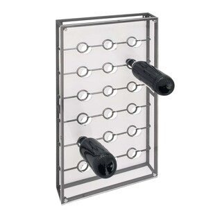 Studio 350 Metal Acrylic Wine Holder 15 inches wide, 30 inches high