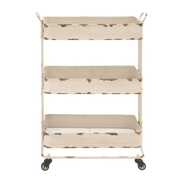 Studio 350 Metal 3 Tier Cart 28 inches wide, 39 inches high