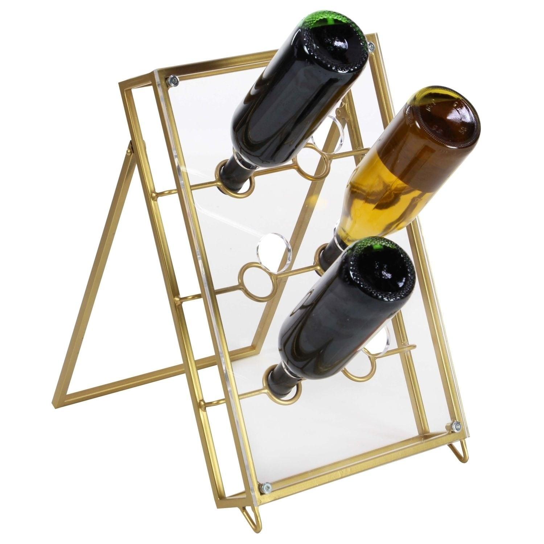 Studio 350 Metal Acrylic Wine Holder 11 inches wide, 17 i...
