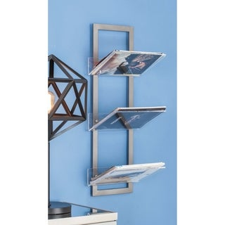 Studio 350 Metal Acrylic Wall Shelf 12 inches wide, 32 inches high
