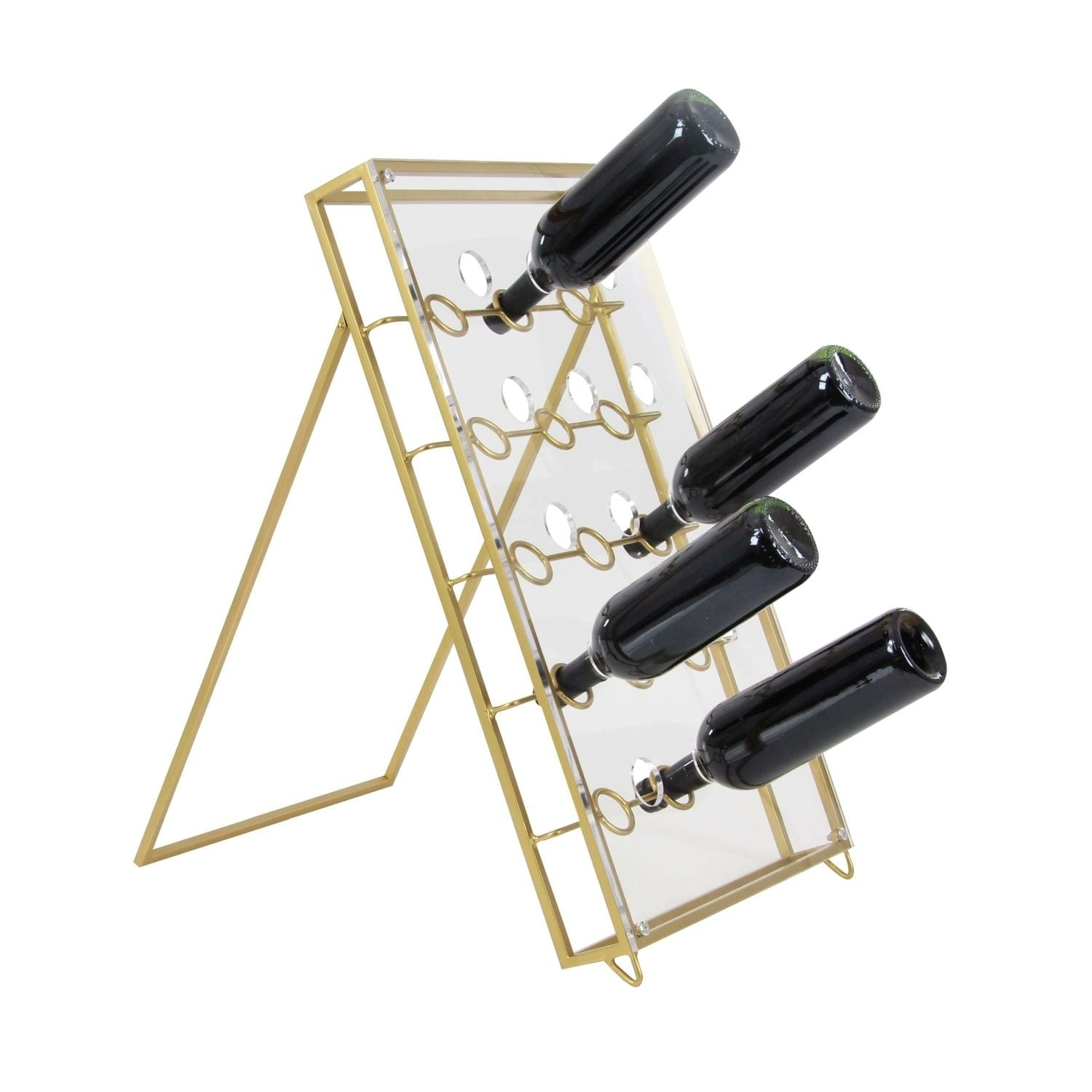 Studio 350 Metal Acrylic Wine Holder 15 inches wide, 24 inches high