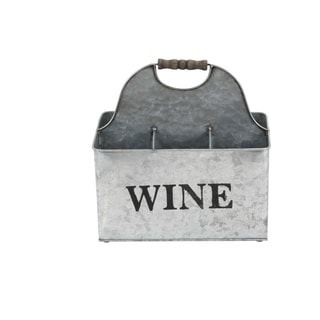 Studio 350 Metal Wine Holder 12 inches wide, 12 inches high