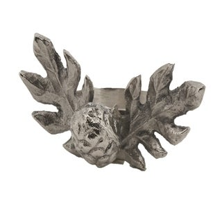 Pinecone Design Rustic Style Napkin Ring - Set of 4