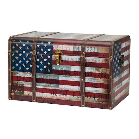 Jumbo Americana Decorative Home Storage Trunk
