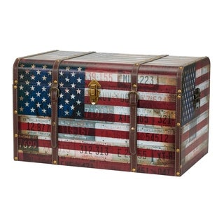 Jumbo Americana Decorative Home Storage Trunk
