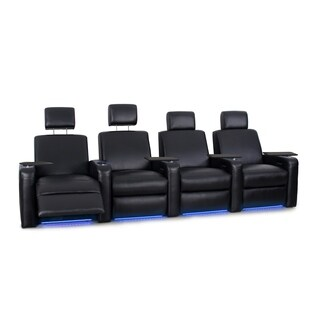 Octane Viper XL500 Power Leather Home Theater Seating Set (Row of 4)