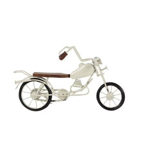Porch & Den Havana Metal Wood White Bike