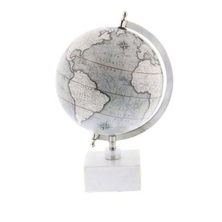 Studio 350 Metal Marble Globe 9 inches wide, 13 inches high