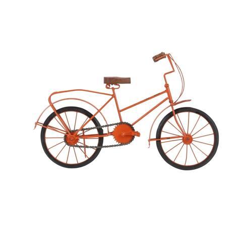 Copper Grove Hidden Springs Metal Wood Orange Bicycle