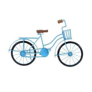 Copper Grove Hidden Springs Metal Wood Blue Bicycle (18 X 11)