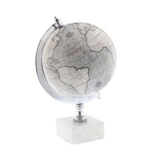 Carson Carrington Alavus Metal Marble Globe 7 inches wide, 11 inches high