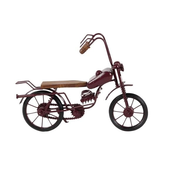 Porch & Den Havana Metal Wood Black Bike (15 X 10)