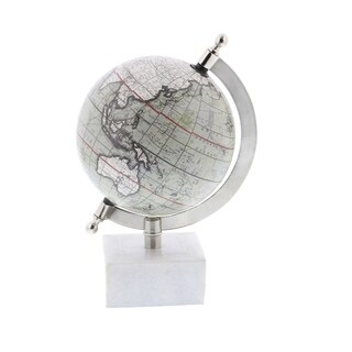 Studio 350 Metal Marble Globe 5 inches wide, 8 inches high