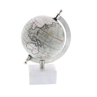 Strick & Bolton Oliva Metal Marble Globe