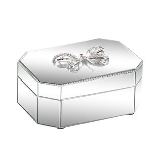 Silver Orchid Valkyrien Wood Dragonfly Mirror Box