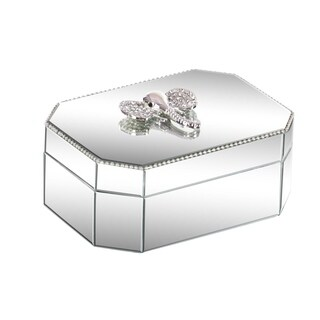 Silver Orchid Valkyrien Wood Elephant Mirror Box