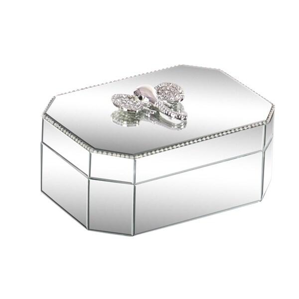 Silver Orchid Valkyrien Wood Elephant Mirror Box