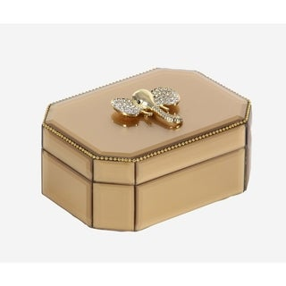 Link to Silver Orchid Valkyrien Wood Elephant Gold Glass Box Similar Items in Accent Pieces