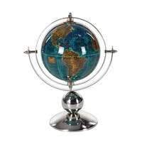 Laurel Creek Hattie Stainless Steel Polished Silver Globe (8 x 10)