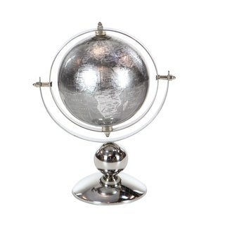 Silver Orchid Olivia Stainless Steel PVC Globe 8 inches wide, 10 inches high