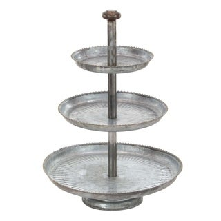Studio 350 Galv 3 Tier Cake Stand 16 inches wide, 22 inches high