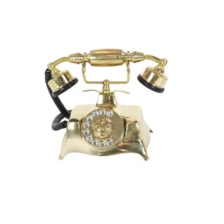 Studio 350 Brass Antique 9-inches Wide x 7-inches High Telephone