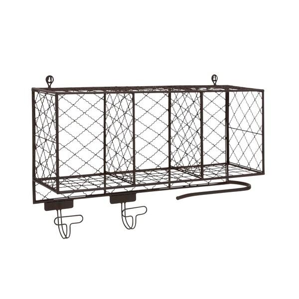 Shop Studio 350 Metal 34 Inch Wide X 20 Inch High Shelf With Hooks