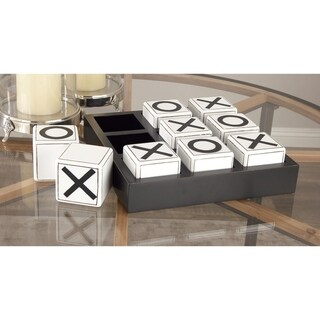 Studio 350 Wood Tic Tac Toe Game 14 inches wide, 4 inches high