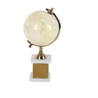 Studio 350 Aluminum Decor Globe White 7 inches wide, 14 inches high