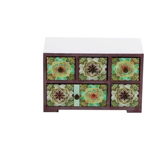 Studio 350 Wood Jewelry Chest 10 inches wide, 6 inches high