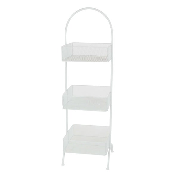 Studio 350 Metal White Tray Stand 13 inches wide, 42 inches high