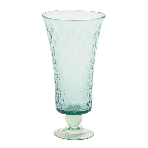 Studio 350 Glass Hurricane Vase 8 inches wide, 16 inches high