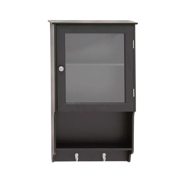 Studio 350 Black Wood/Glass 16 Inch X 27 Inch Wall Cabinet Sc 1 St  Overstock.com