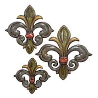 Studio 350 Metal Fleur De Lis Set of 3, 22 inches, 19 inches, 15 inches high