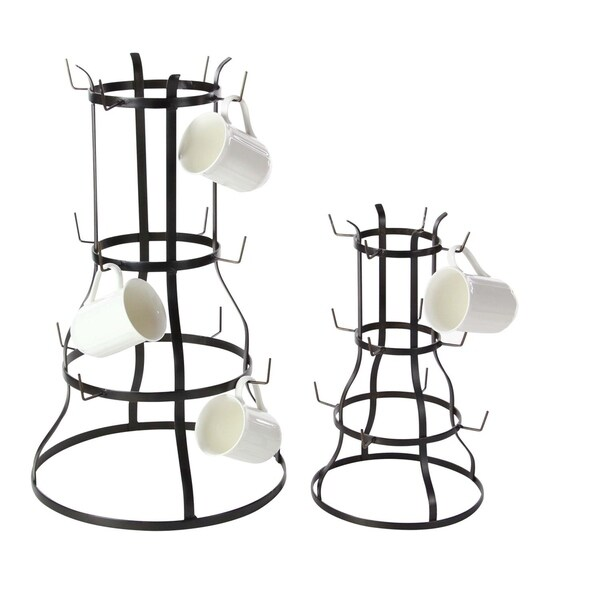The Gray Barn Jartop Metal Mug Rack Set of 2, 16-inches, 24-inches high
