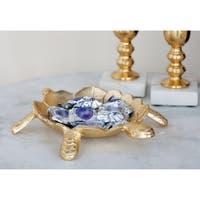 Studio 350 Aluminum Turtle Dish Set of 2, 10 inches, 15 inches wide