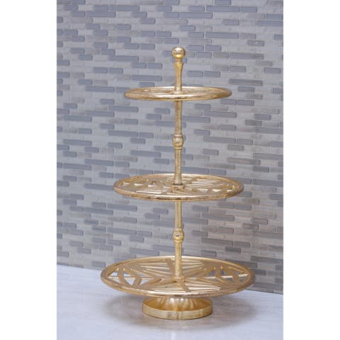 Studio 350 Aluminum 3 Teir Tray Stand 12 inches wide, 21 inches high