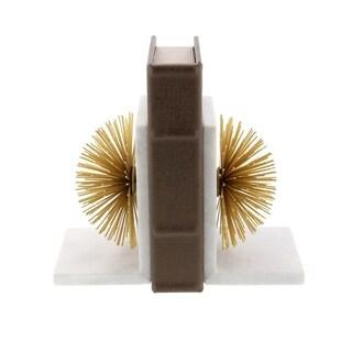 Carson Carrington Alavus Metal Marble Gold Bookends