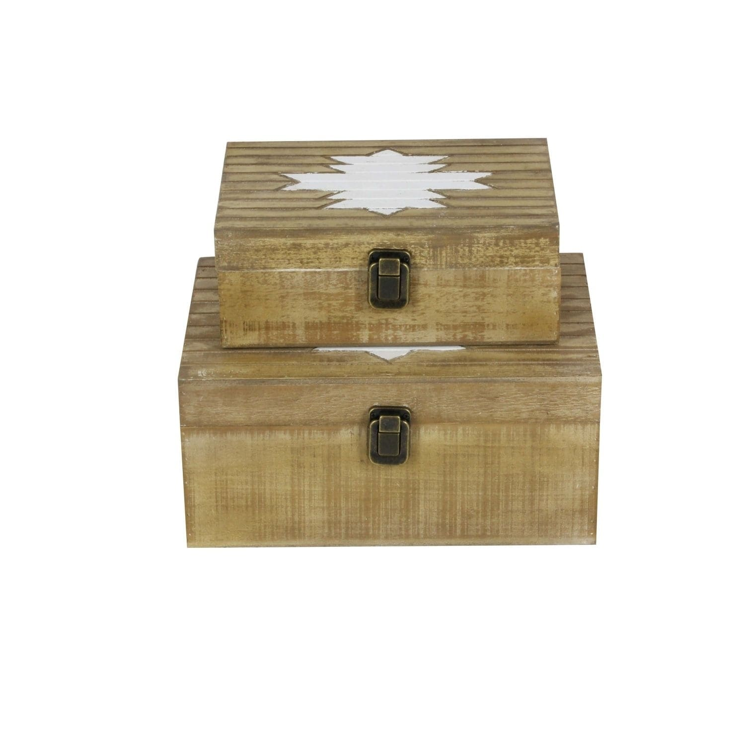 Studio 350 Wood Box Set of 2, 10 inches, 12 inches wide, ...