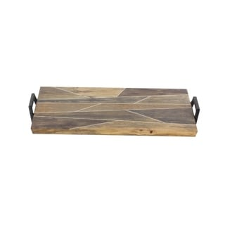 Studio 350 Wood Metal Tray 24 inches wide, 3 inches high