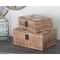 Studio 350 Wood Box Set of 2, 10 inches, 12 inches wide
