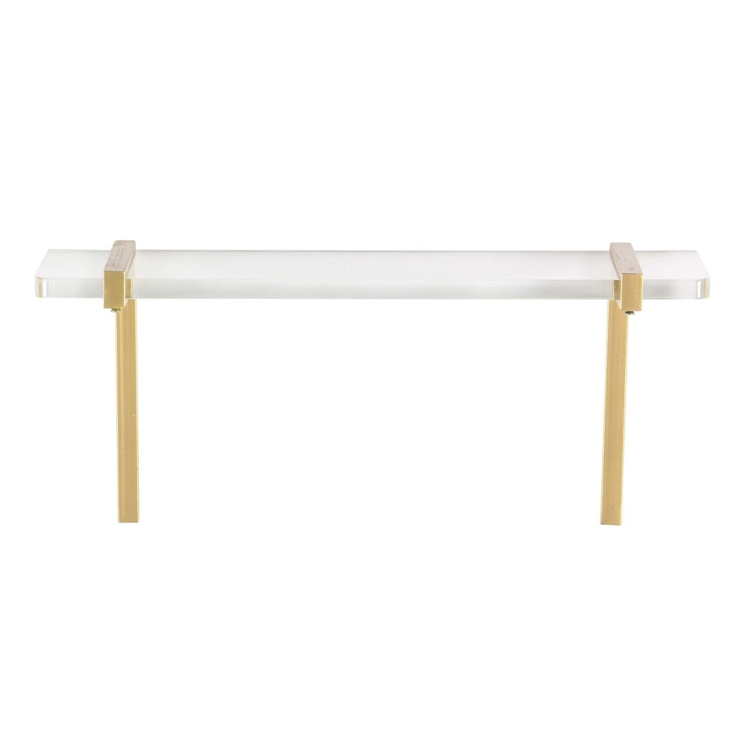 Studio 350 Metal Acrylic Wall Shelf 18 inches wide, 7 inches high