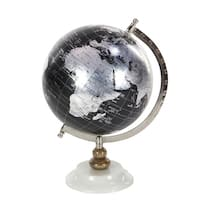 Clay Alder Home Hernando Black Metal PVC Wood Marble Globe