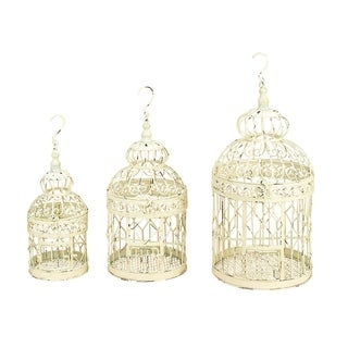 Studio 350 Metal Bird Cage Set of 3, 21 inches ,18 inches ,14 inches high